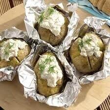 bbq aardappel