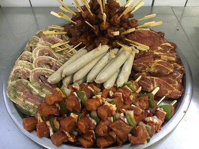assortiment vlees producten